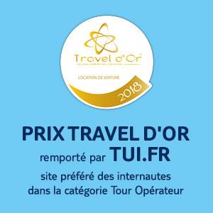 Travel d Or 2018: TUI site prefere des français