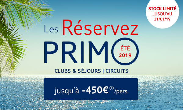 Reservez Primo ete 2019