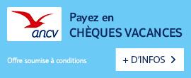 Reservez votre voyage et regler en cheques vacances !